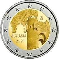 Фото памятная монета 2 евро 2021 года - Исторический город Толедо, Испания