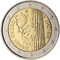 Фото памятная монета 2 евро Финляндии 2016 года — 100 лет со дня рождения философа Георга Хенрика фон Вригта