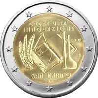 Фото памятная монета 2 евро 2009 года — Европейский год творчества и инноваций