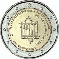 Фото памятная монета 2 евро Сан-Марино 2015 года — 25-летие объединения Германии