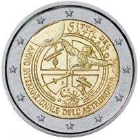 Фото памятная монета 2 евро Ватикана 2009 года - Международный год астрономии