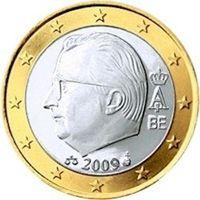 Фото монета 1 евро Бельгии образца 2009 года