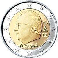 Фото монета 2 евро Бельгии образца 2009 года