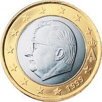 Фото монета 1 евро Бельгия (1999 года)