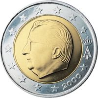 Фото монета 2 евро Бельгия (1999 года)