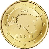 Фото монета 10 евроцентов Эстонии