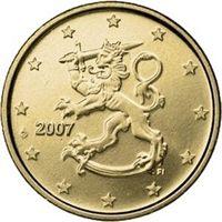Фото монета 50 евроцентов Финляндии образца 2007 года