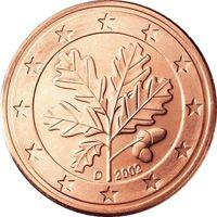 Фото монета 2 евроцента Германии