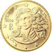 Фото монета 10 евроцентов Италии