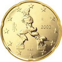 Фото монета 20 евроцентов Италии