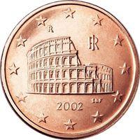 Фото монета 5 евроцентов Италии