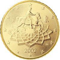 Фото монета 50 евроцентов Италии