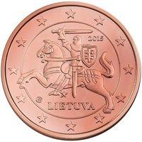 Фото монета 1 евроцент Литвы
