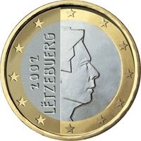 Фото монета 1 евро Люксембурга