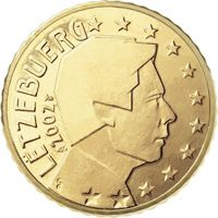 Фото монета 10 евроцентов Люксембурга