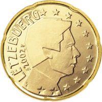 Фото монета 20 евроцентов Люксембурга