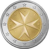 Фото монета 2 евро Мальты
