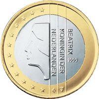 Фото монета 1 евро Нидерландов