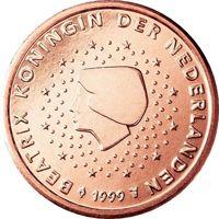Фото монета 1 евроцент Нидерландов
