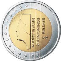 Фото монета 2 евро Нидерландов