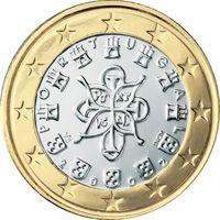 Фото монета 1 евро Португалии