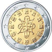 Фото монета 2 евро Португалии