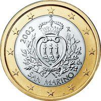 Фото монета 1 евро Сан-Марино