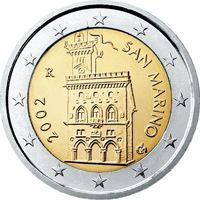 Фото монета 2 евро Сан-Марино