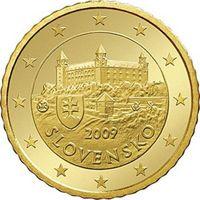 Фото монета 10 евроцентов Словакии