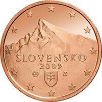 Фото монета 5 евроцентов Словакии